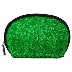 Green Glitter Accessory Pouches (large)