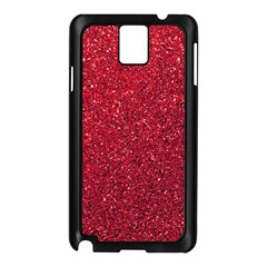 Red  Glitter Samsung Galaxy Note 3 N9005 Case (black)