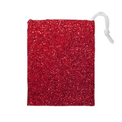 Red  Glitter Drawstring Pouches (large)