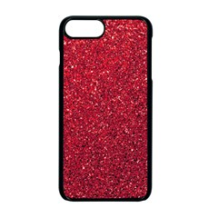 Red  Glitter Apple Iphone 7 Plus Seamless Case (black)