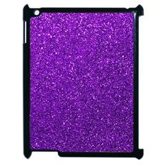 Purple  Glitter Apple Ipad 2 Case (black)