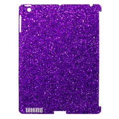 Purple  Glitter Apple Ipad 3/4 Hardshell Case (compatible With Smart Cover)