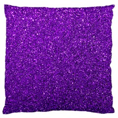 Purple  Glitter Large Cushion Case (one Side)