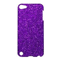 Purple  Glitter Apple Ipod Touch 5 Hardshell Case