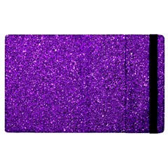 Purple  Glitter Apple Ipad 2 Flip Case