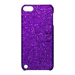 Purple  Glitter Apple Ipod Touch 5 Hardshell Case With Stand