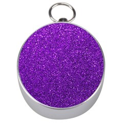 Purple  Glitter Silver Compasses