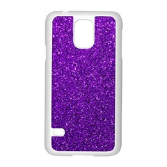 Purple  Glitter Samsung Galaxy S5 Case (white)