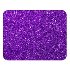 Purple  Glitter Double Sided Flano Blanket (large)