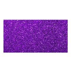 Purple  Glitter Satin Shawl