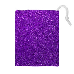 Purple  Glitter Drawstring Pouches (extra Large)