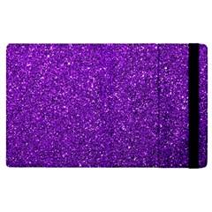 Purple  Glitter Apple Ipad Pro 9 7   Flip Case