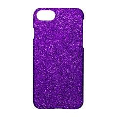 Purple  Glitter Apple Iphone 7 Hardshell Case
