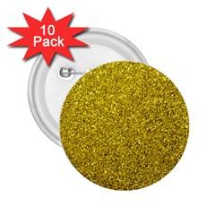 Gold  Glitter 2 25  Buttons (10 Pack)