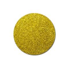 Gold  Glitter Magnet 3  (round)