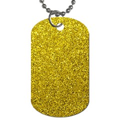 Gold  Glitter Dog Tag (one Side)