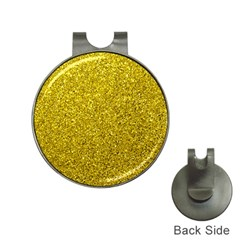 Gold  Glitter Hat Clips With Golf Markers