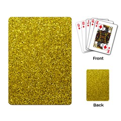 Gold  Glitter Playing Card