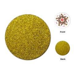 Gold  Glitter Playing Cards (round)
