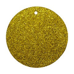 Gold  Glitter Round Ornament (two Sides)