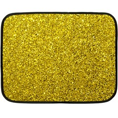 Gold  Glitter Double Sided Fleece Blanket (mini)
