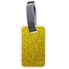 Gold  Glitter Luggage Tags (one Side)