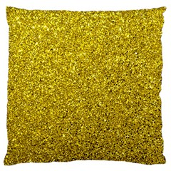 Gold  Glitter Large Cushion Case (two Sides)
