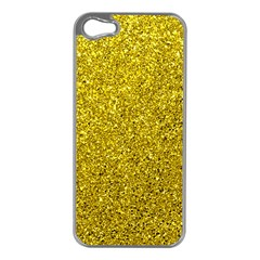 Gold  Glitter Apple Iphone 5 Case (silver)
