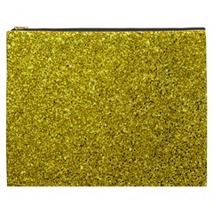 Gold  Glitter Cosmetic Bag (xxxl)