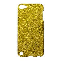 Gold  Glitter Apple Ipod Touch 5 Hardshell Case