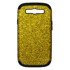 Gold  Glitter Samsung Galaxy S Iii Hardshell Case (pc+silicone)