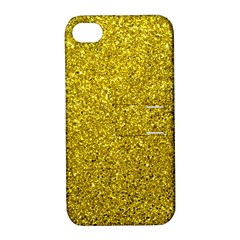Gold  Glitter Apple Iphone 4/4s Hardshell Case With Stand
