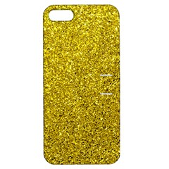 Gold  Glitter Apple Iphone 5 Hardshell Case With Stand