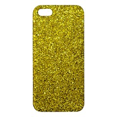 Gold  Glitter Iphone 5s/ Se Premium Hardshell Case