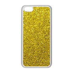 Gold  Glitter Apple Iphone 5c Seamless Case (white)