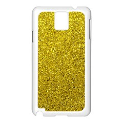 Gold  Glitter Samsung Galaxy Note 3 N9005 Case (white)
