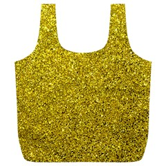 Gold  Glitter Full Print Recycle Bags (l)