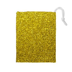 Gold  Glitter Drawstring Pouches (large)