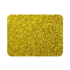 Gold  Glitter Double Sided Flano Blanket (mini)