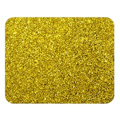 Gold  Glitter Double Sided Flano Blanket (large)