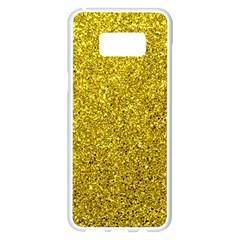 Gold  Glitter Samsung Galaxy S8 Plus White Seamless Case