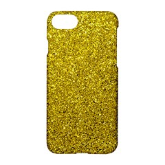 Gold  Glitter Apple Iphone 8 Hardshell Case