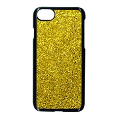 Gold  Glitter Apple Iphone 8 Seamless Case (black)