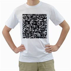 Grey Camo Men s T Shirt (white) (two Sided)