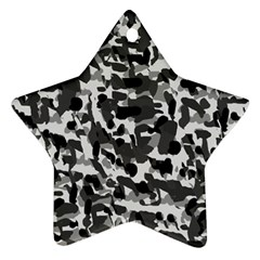 Grey Camo Star Ornament (two Sides)