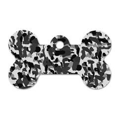 Grey Camo Dog Tag Bone (two Sides)