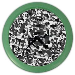 Grey Camo Color Wall Clocks