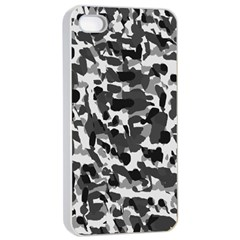 Grey Camo Apple Iphone 4/4s Seamless Case (white)