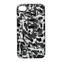 Grey Camo Apple Iphone 4/4s Hardshell Case With Stand