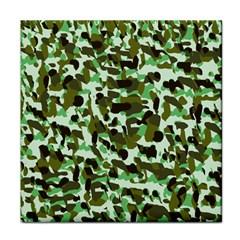 Brownish Green Camo Face Towel